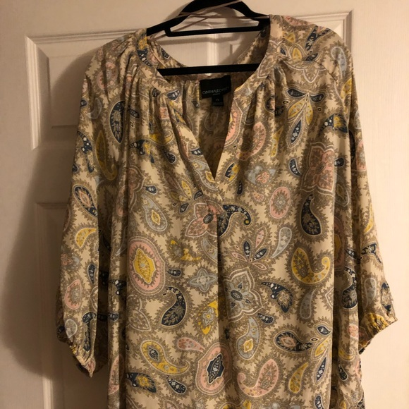 Cynthia Rowley Tops - Pastel, plus size, printed paisley top